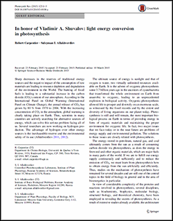 Photosynthesis Research 125 (2015) 1–3